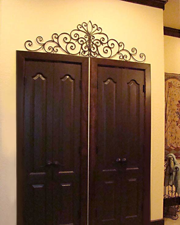 Iron wall art above door for the home pinterest for Above door decoration