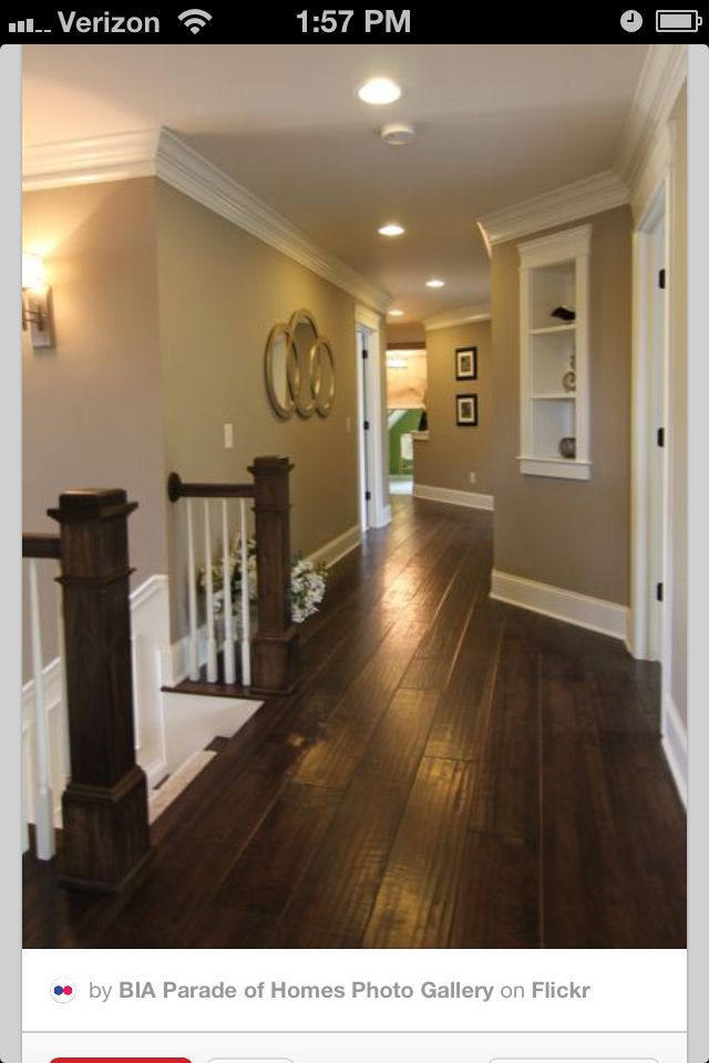 Dark wood floors and grey walls home design pinterest for Hardwood floors with gray walls