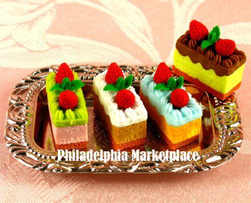 Doll Food Miniature Mini Toy Pretend Play Food American Girl Doll Napoleon Cake