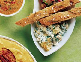 Spinach Artichoke dip: 16 calories/tbs, made with silken tofu instead ...