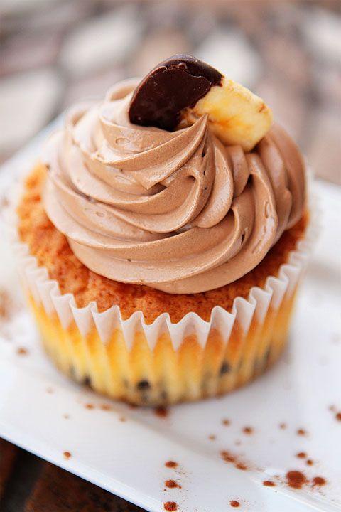 banana & chocolate cupcake... yum! | Food - Cake - Let's see how you ...