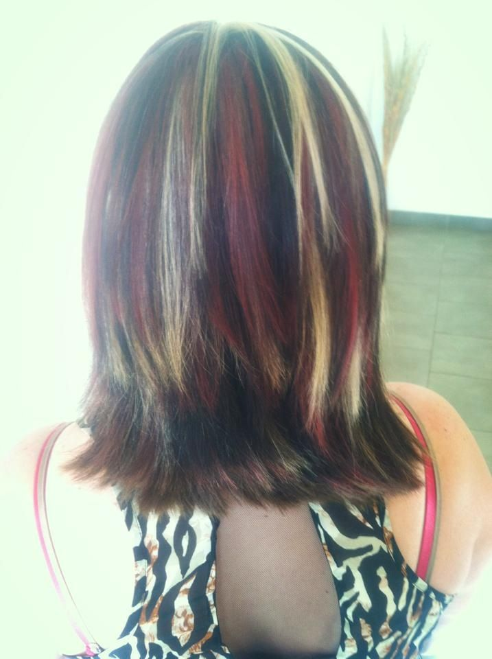 ... Brown Lowlights Hair ideas for next hair color or cut chunky red brown