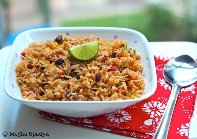 mexican fried rice - AMAZING, with a blend of brown rice and red ...