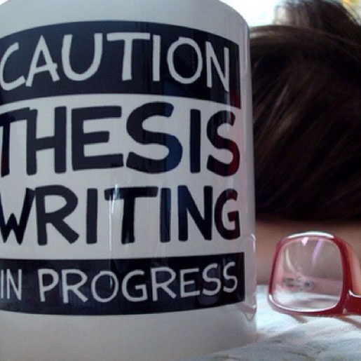 caution thesis writing in progress