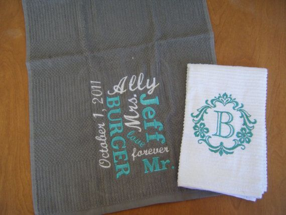 Kitchen Towel Set, Wedding Gift Set, Bridal Shower Gift, Kitchen ...