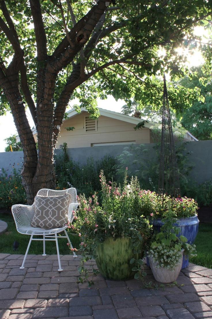 Viewalongtheway Backyard : Corner of our patio  Outdoor  Pinterest