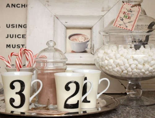 hot chocolate station.