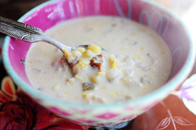 Corn Chowder with Chilies - PW | recipes | Pinterest