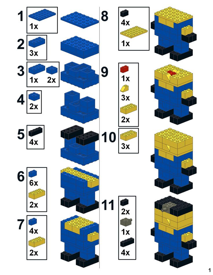 Как сделать из лего миньона инструкция