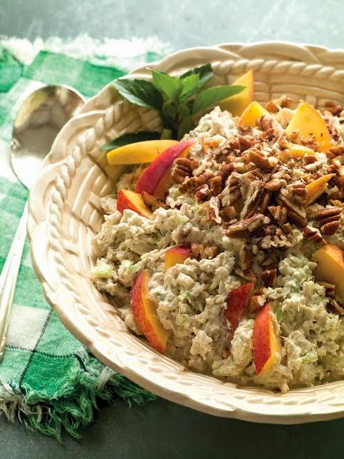 Roast Chicken Salad With Peaches, Goat Cheese & Pecans Recipes ...