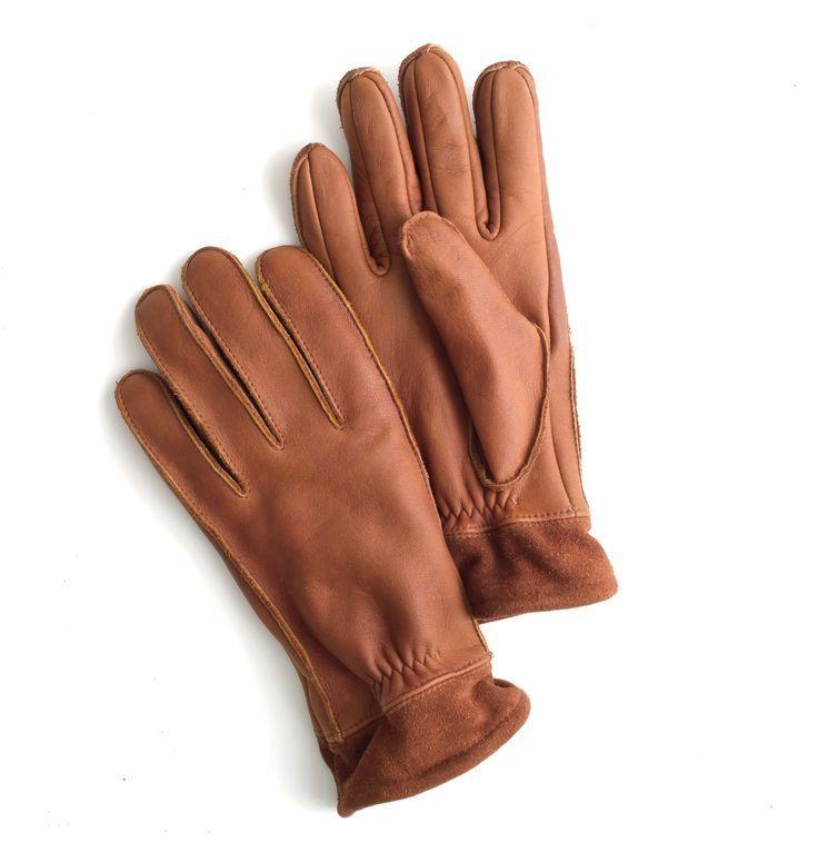 J.Crew leather work gloves.