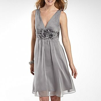Grey dress from jcp bridesmaid for erica pinterest for Jcpenney bridesmaid wedding dresses