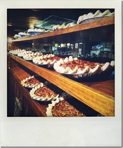 pecan pies at The Salt Lick in Austin TX