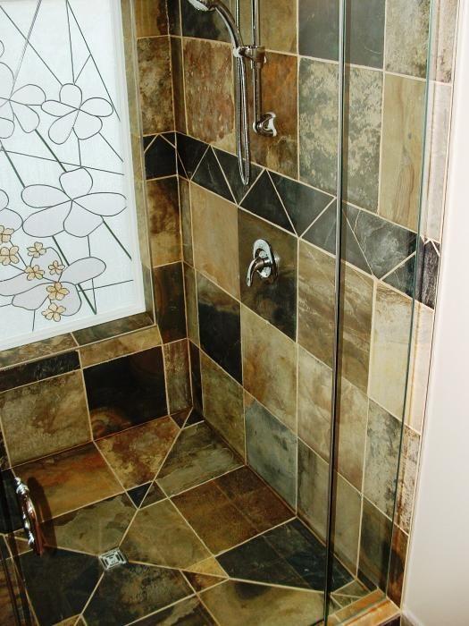 Slate Tile Shower Bathroom Ideas Pinterest