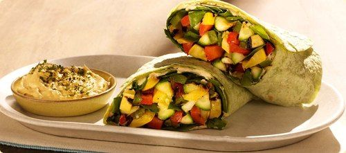 Grilled Vegetable Wrap with Hummus | Recipes and Beautiful Food Photo ...