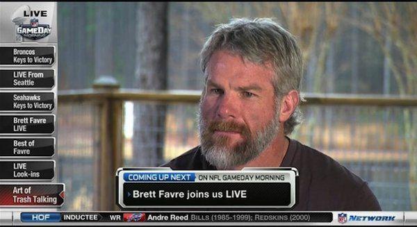 Brett Favre shows off big beard on NFL Network  says talk about Peyton    Brett Favre Steroids