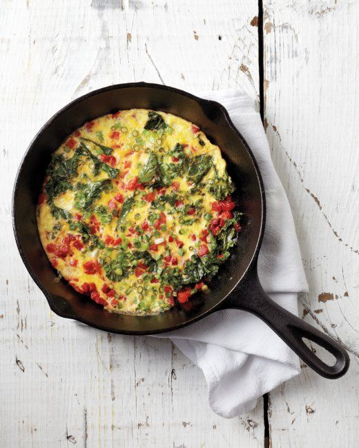 Roasted Red Pepper and Kale Frittata | Recipe