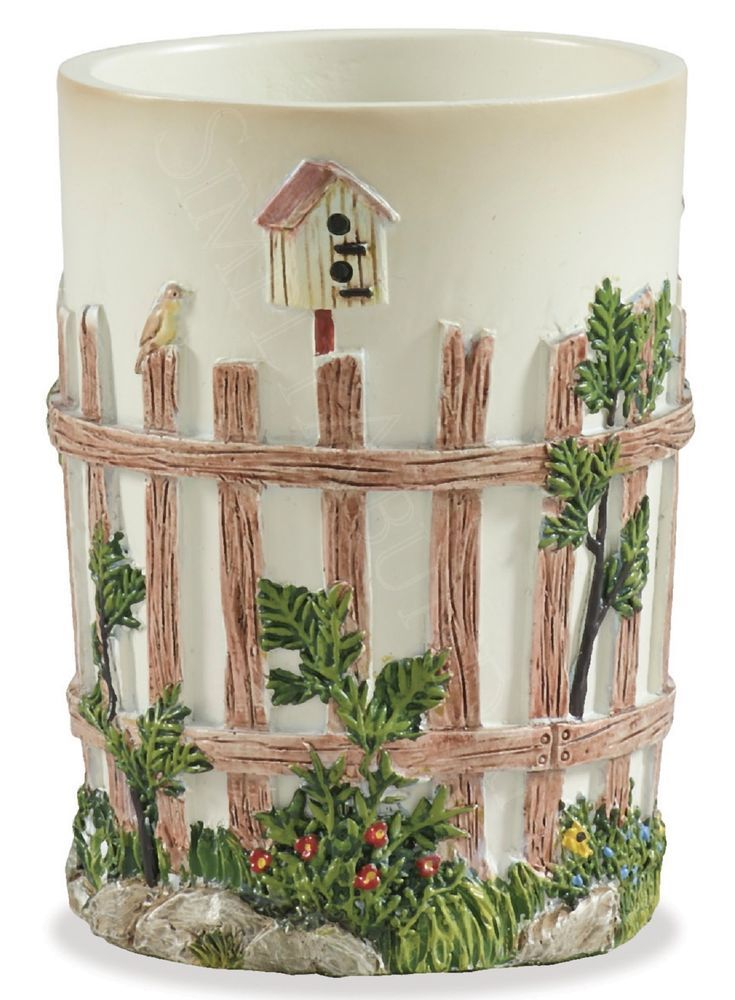 Linda spivey outhouse tumbler by park designs hand for Park designs bathroom accessories