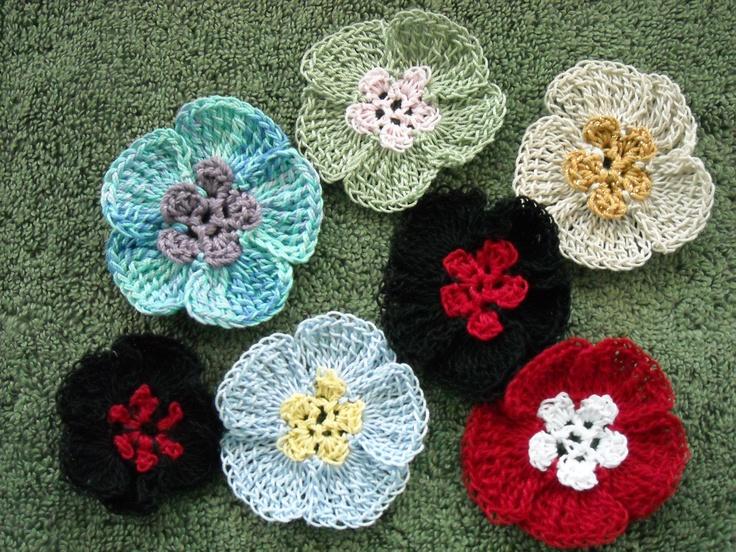 Crochet Ruffle Flower Pattern : Ruffle Flower My Crochet Flowers Pinterest