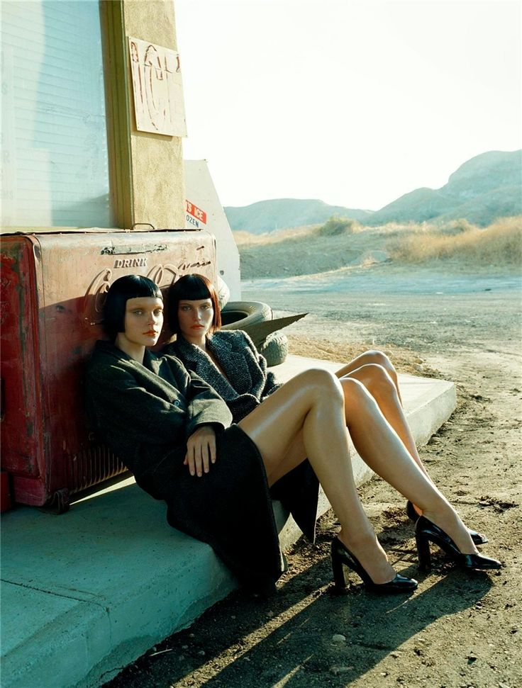 Jessica Stam and Missy Rayder, by Steven Meisel