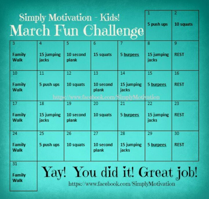Family Fitness Challenge. ...what a great idea! | Wellness ...