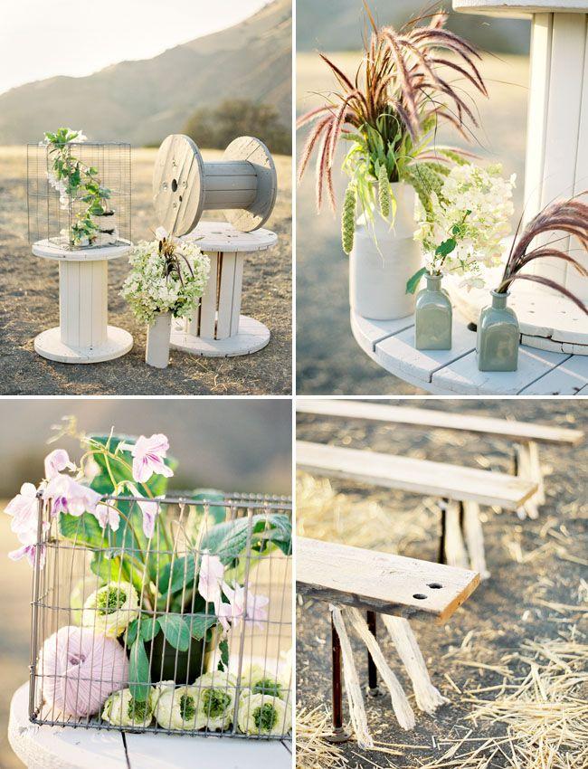 i love this super natural and organic wedding decor. via green wedding shoes