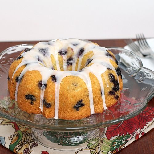 Blueberry Lime Pound Cake (perfect for the frozen blueberries in my ...