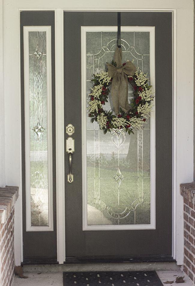 Front door paint wreath house update ideas for new for Front door update ideas