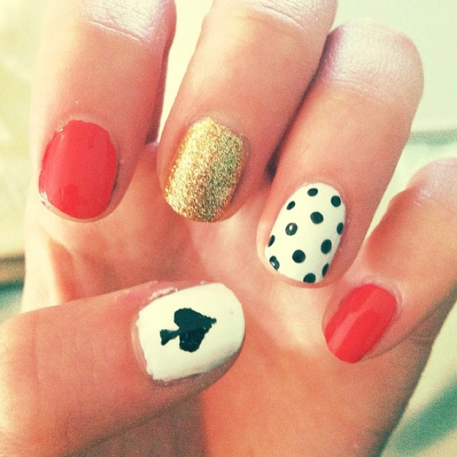 Kate Spade inspired nails bu Sarahbelle93x in youtube