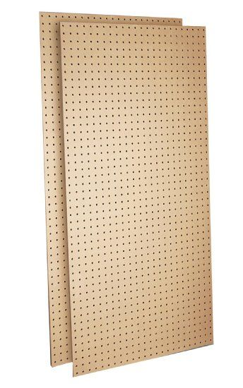 Triton Products TPB-2FFP Tempered Wood Pegboard Heavy Duty Commercial Grade Tempered Round Hole Pegboards, 24-Inch W x 48-Inch H x 1/4-Inch ... $34.27 w/ Prime