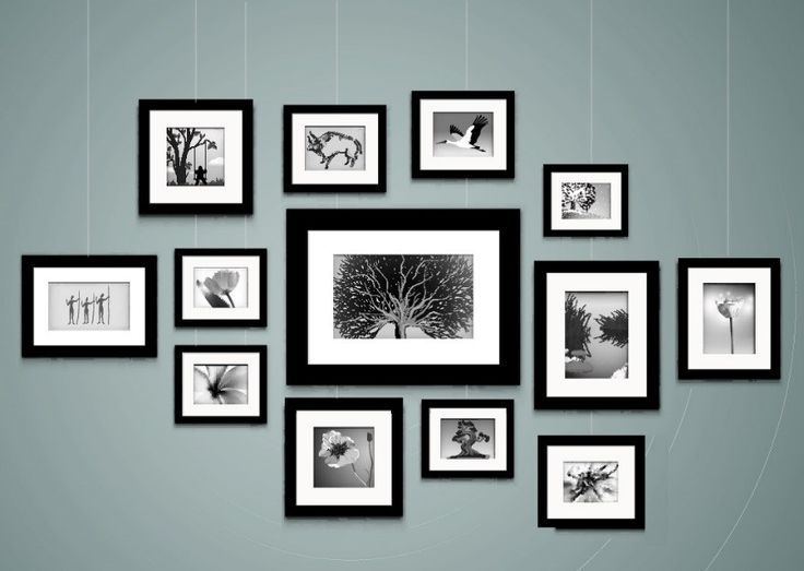hanging art gallery style - wall collage