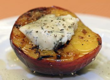 Grilled Peaches with Roquefort