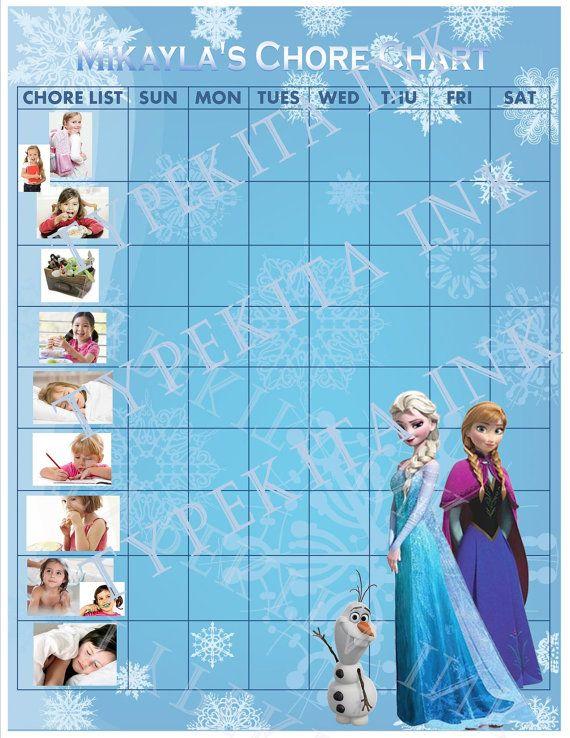 Frozen Free Printable Chore Chart Memes