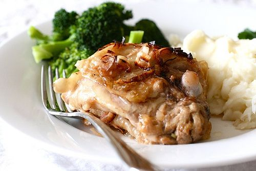 roast chicken with caramelized shallots: 40 mins in the over and looks ...