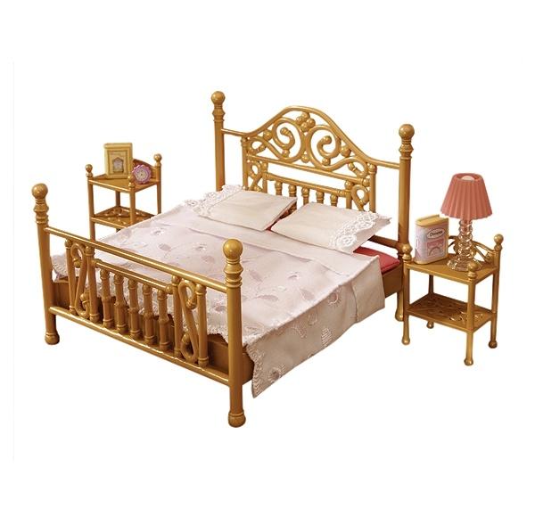 Sylvanian Families Luxury Brass Bed Set   Sylvanian ...