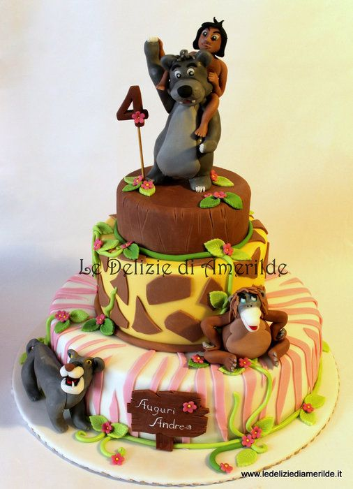 Disney Cake Decorating Book : The Jungle Book, #Disney #cake Party Ideas Pinterest