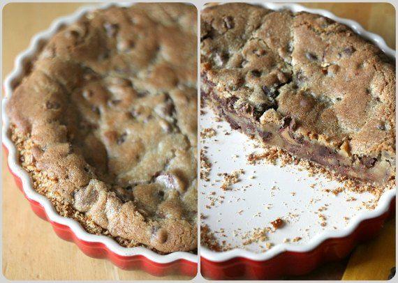 Cookie Crusted Peanut Butter Pretzel Pies Recipe — Dishmaps