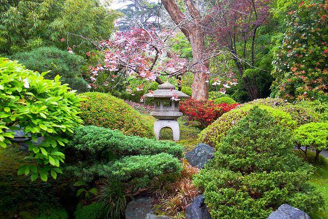 Japanese Gardens in San Francisco Botanical Garden, California, USA (by hghuman).