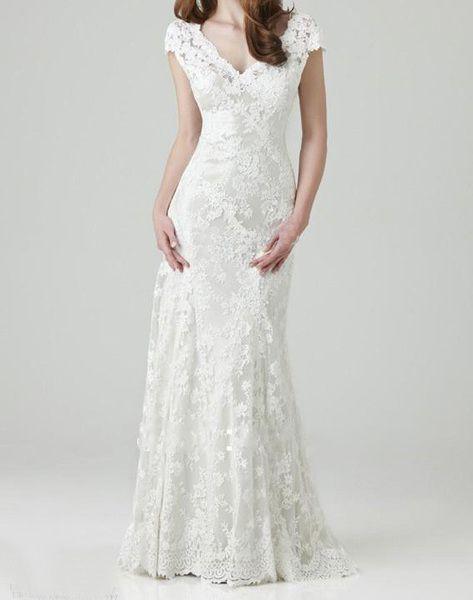 ELSA Hochzeitskleid mit Spitze Brautkleid von Rose Voila auf DaWanda ...