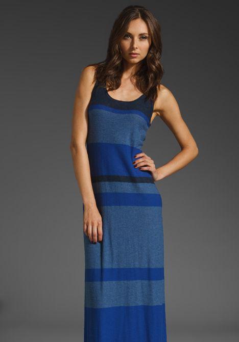 Vince - Blue Multi Stripe Tank Dress | Vince - Dresses | Pinterest
