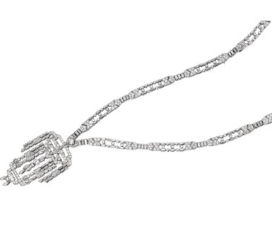 Platinum & Diamond Sautoir sold at Sotheby's for $146,500