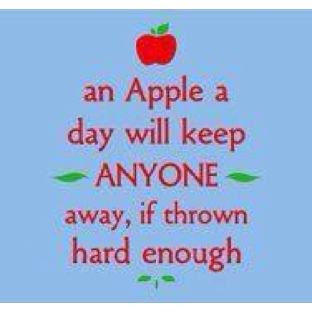 An apple a day | Attitude | Pinterest