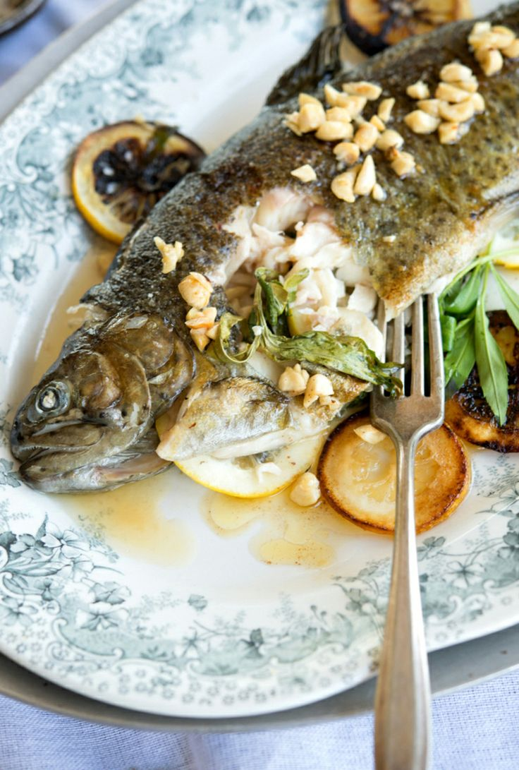 ... and Sardines: Rainbow Trout with Tarragon and Hazelnut Brown Butter