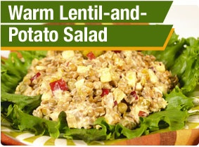 Warm Lentil-and-Potato Salad | Superfood Salads | Pinterest
