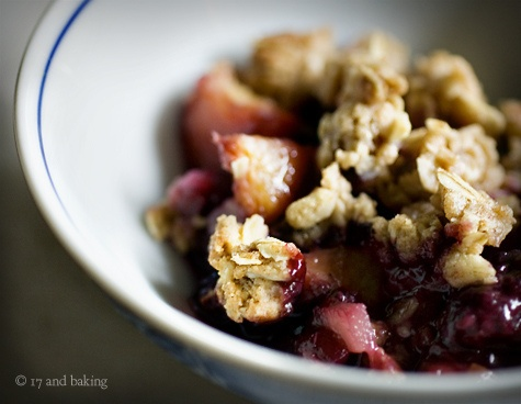 Blackberry, Peach, and Ginger Crumble | sweet. | Pinterest