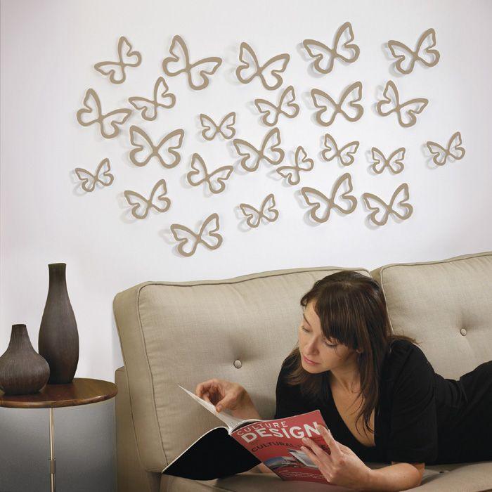 Mariposas para colgar en la pared