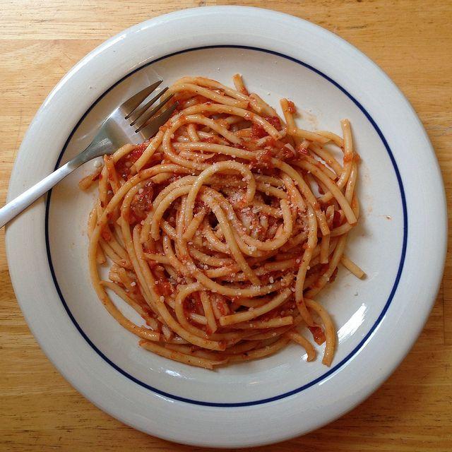 Bucatini all'Amatriciana | Yum yums | Pinterest
