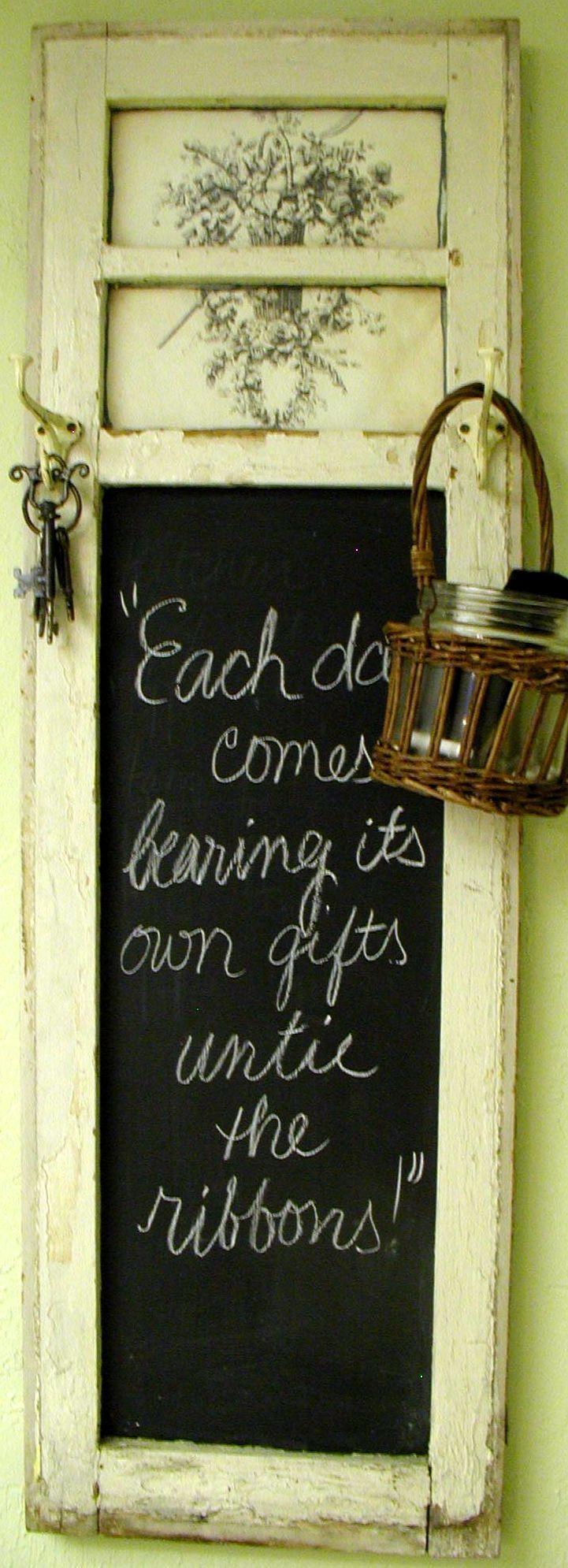 Kitchen chalkboard w lovely saying for Kitchen chalkboard designs