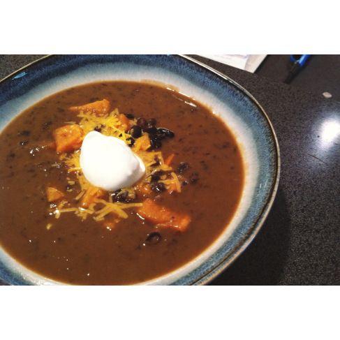 Black bean sweet potato soup | Soup! | Pinterest