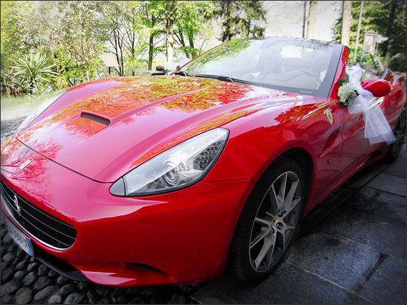 Ferrari wedding car